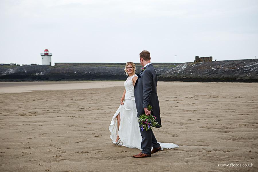 Bury port beach wedding photography
